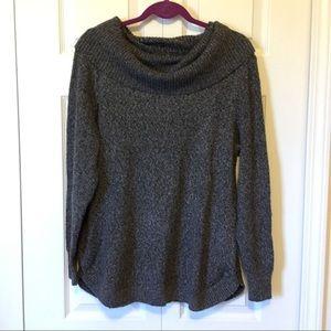 Tahari Gray Cowl Neck Sweater Large